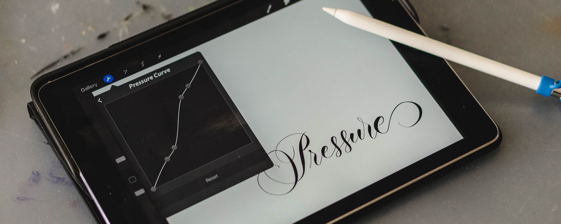 The perfect pressure curve for your iPad Lettering