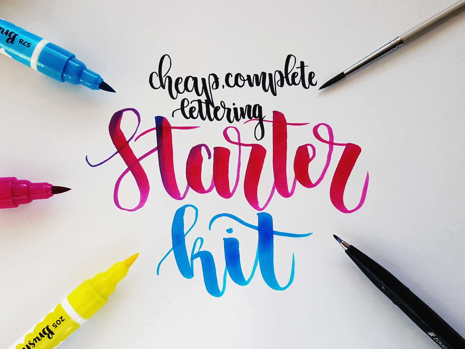 The cheapest versatile brush lettering starter kit halfapx