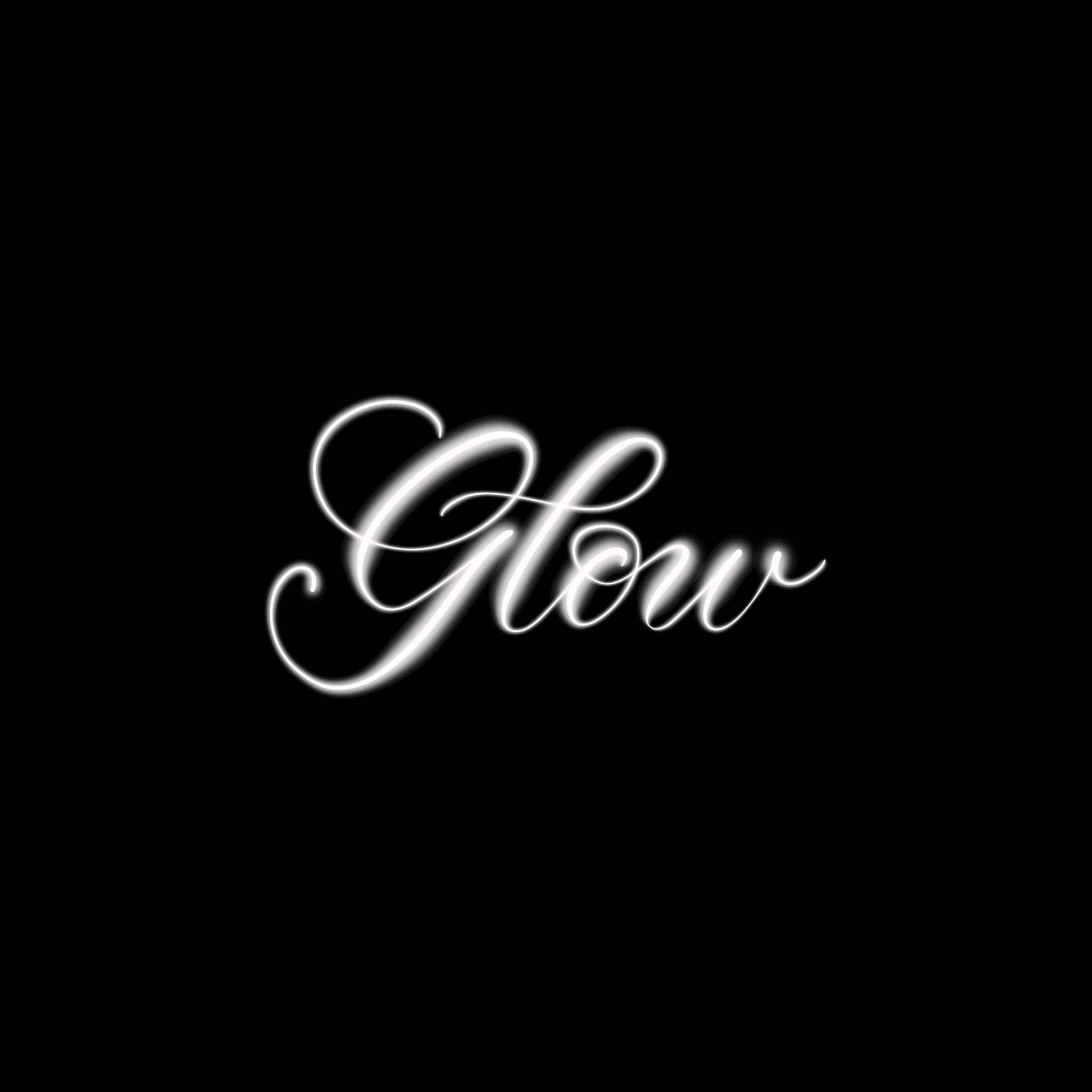 Glow Procreate Lettering Brush - halfapx