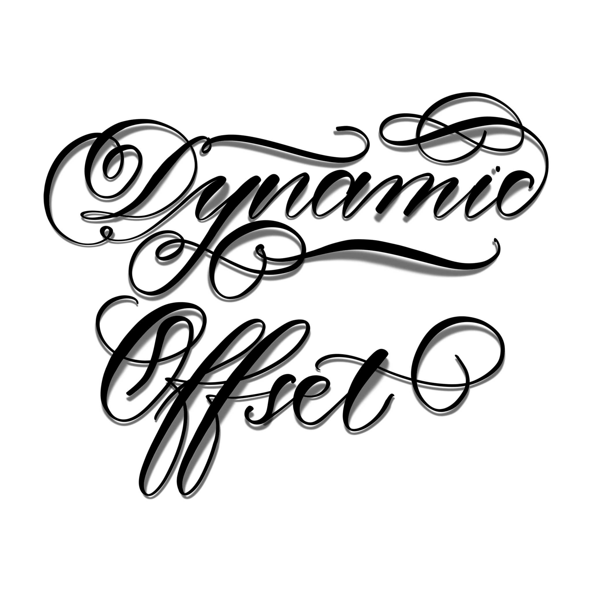 dynamic offset procreate lettering brush