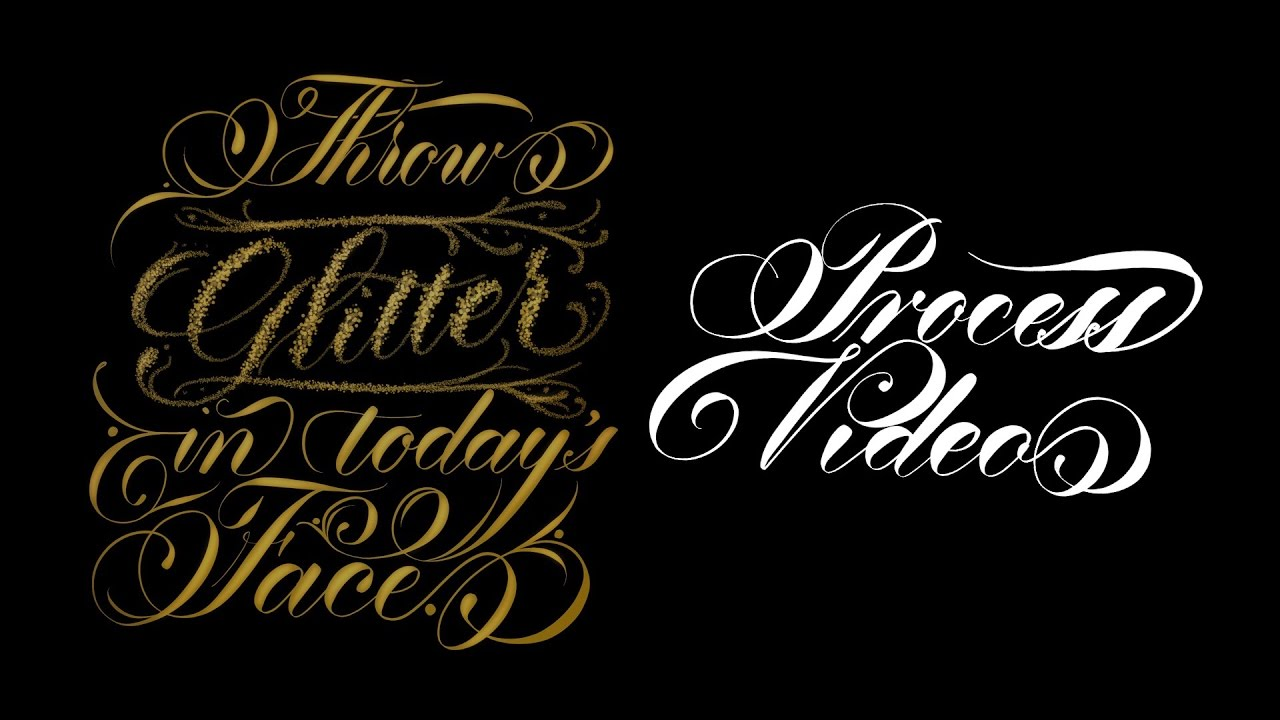 Golden Quote Lettering Process on iPad Pro in Procreate