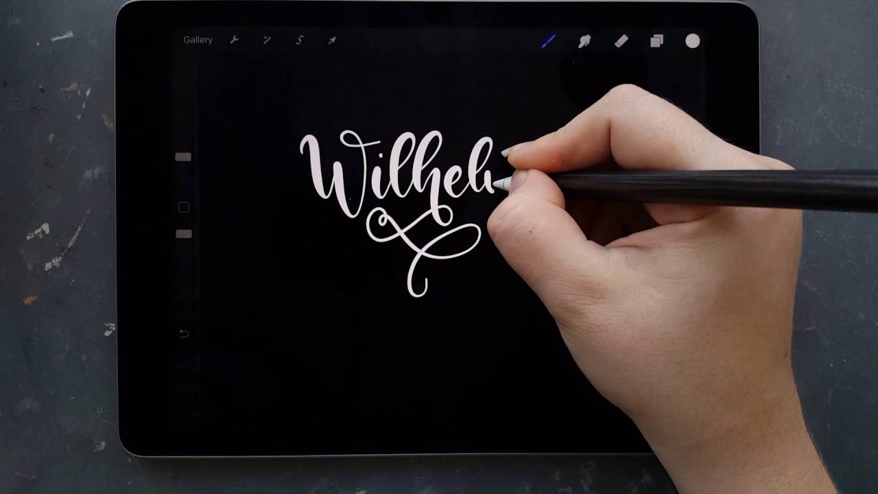 Lettering Names (no. 2) iPad Pro & Procreate