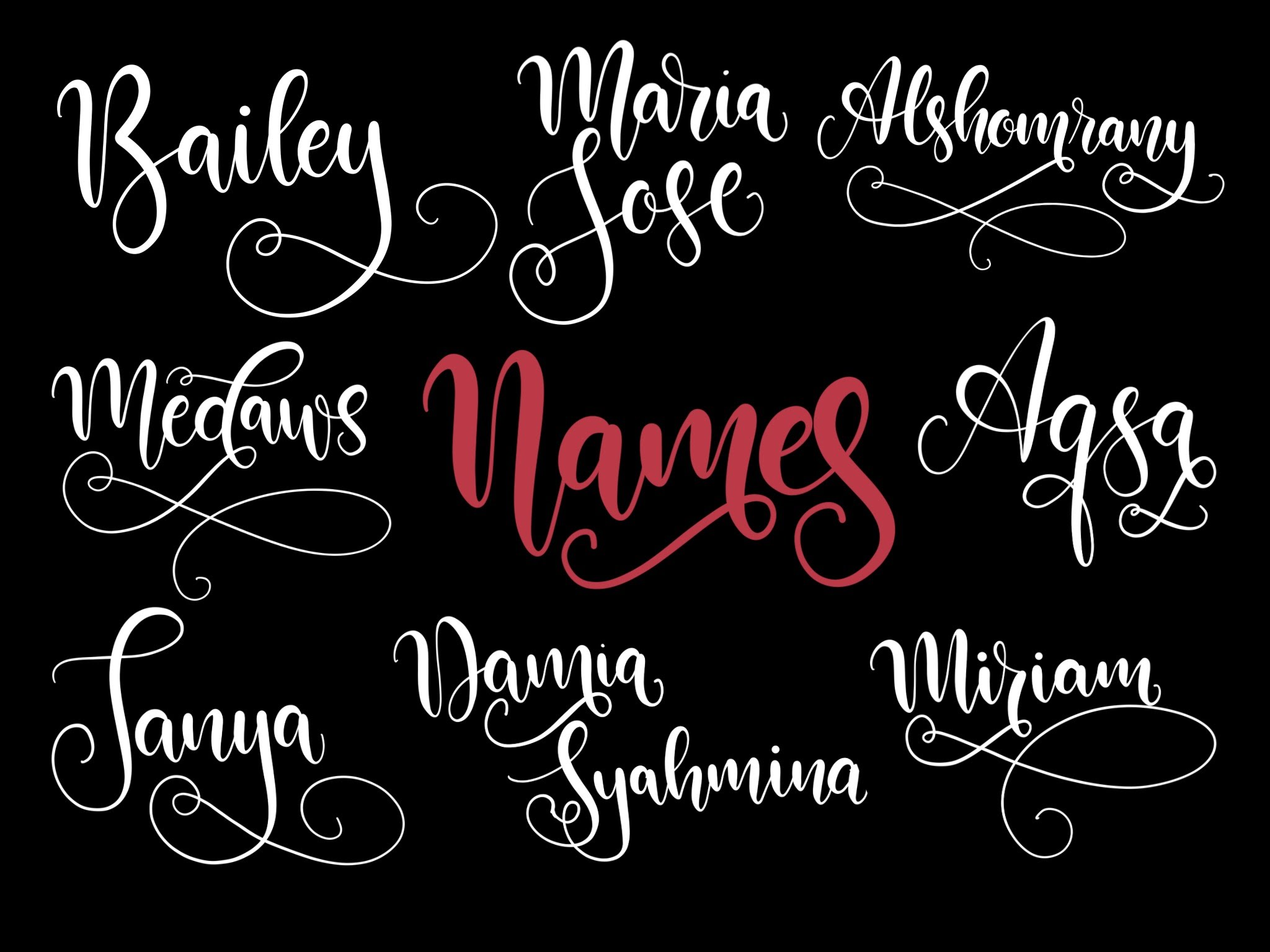 Lettering Names (no. 3) iPad Pro & Procreate