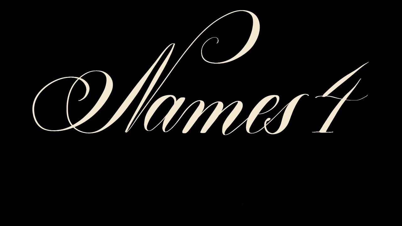 Lettering Names (no. 4) Copperplate on iPad Pro (9.7) & Procreate
