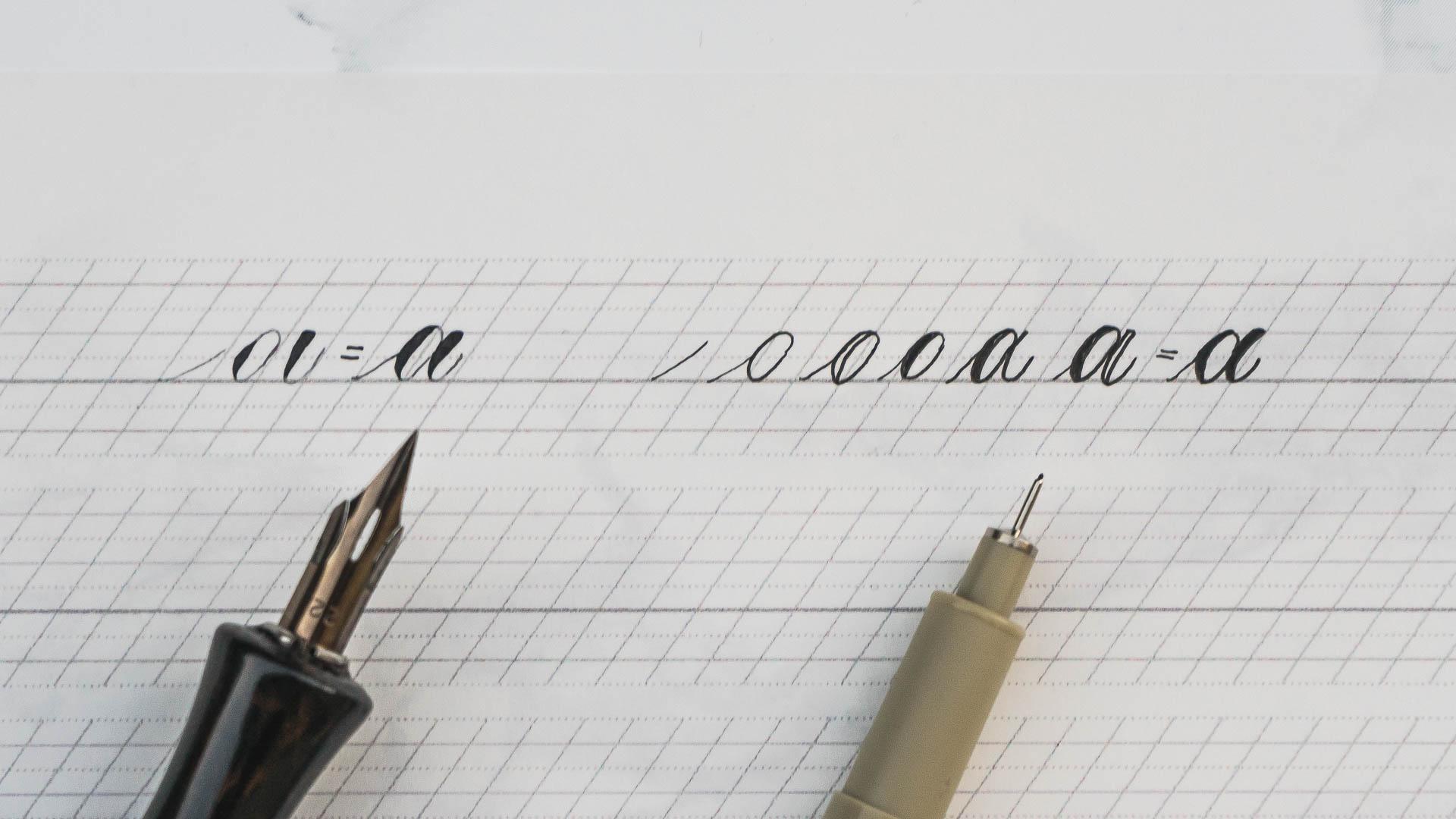 Handlettering vs calligraphy vs font