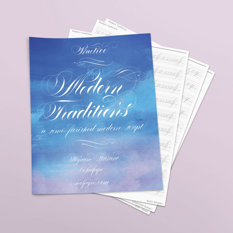 Modern Traditions Workbook + Practice Sheets - halfapx